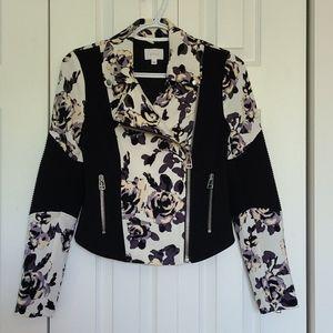 Aritzia Moto Floral Jacket